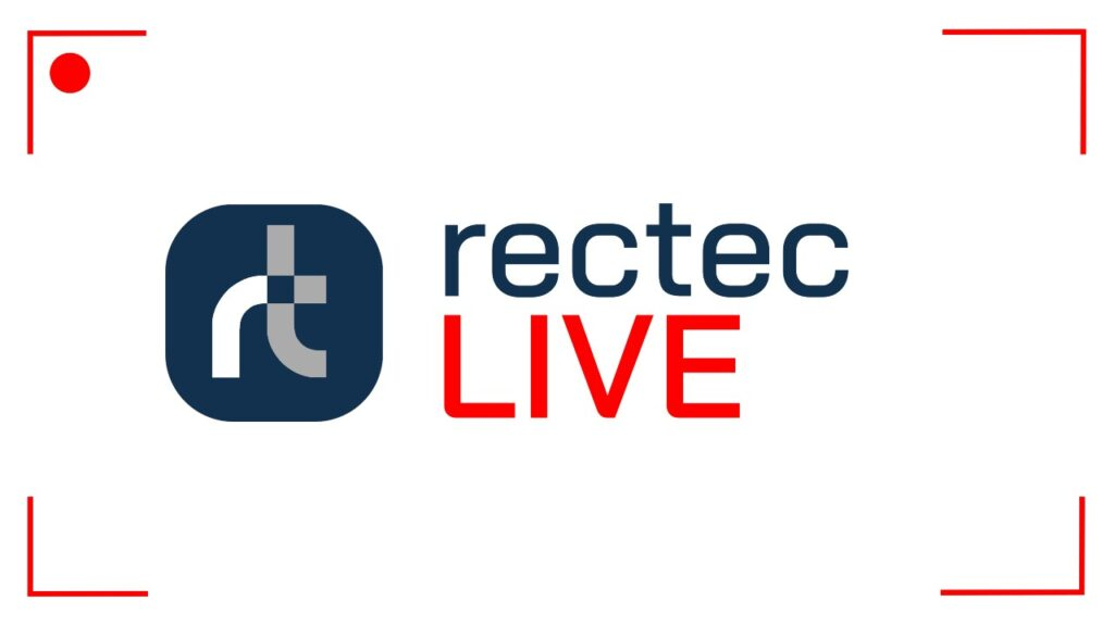 Join us as a speaker on Rectec LIVE! Rectec